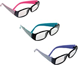Three Pairs of Striped Glasses | Fits 18
