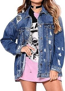 Best plus size destroyed denim jacket Reviews