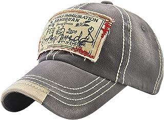 MINAKOLIFE Mens Vintage Distressed Denim Cotton Baseball Cap Trucker Hat