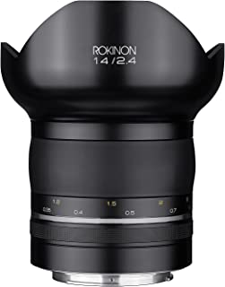 Rokinon SP14MAE-N Special Performance 14mm F/2.4 Ultra Wide Angle Lens with Built-in AE Chip for Nikon DSLR, Black
