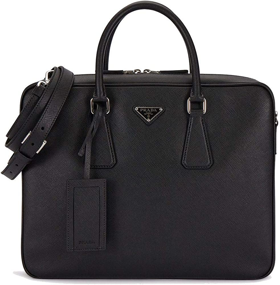 prada luxury fashion borsa da lavoro prada, pelle 100% per uomo 2ve011oo9z2f0002