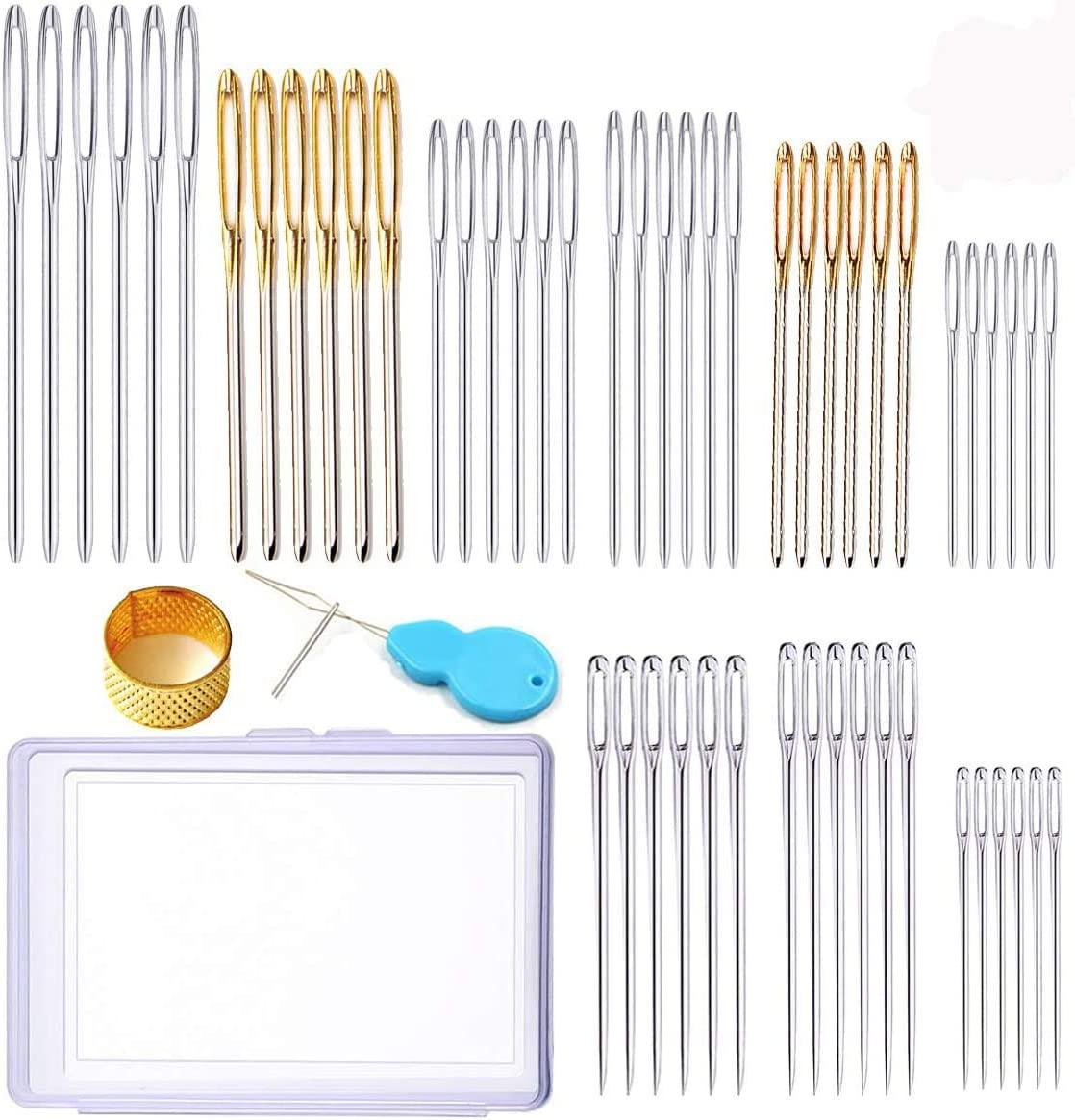 Fort Worth Mall Y-Axis 54 Pcs Assorted Large Eye Sale N Hand Stitching Needles Sewing