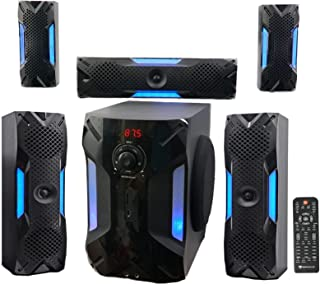 "Rockville HTS56 1000w 5.1 Channel Home Theater System/Bluetooth/USB+8"" Subwoofer (Renewed)"