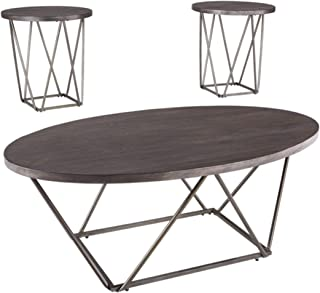 Signature Design by Ashley - Neimhurst Occasional Table Set of 3, Sleek Brown Wood