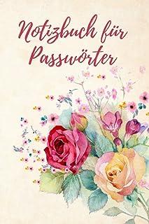 Notizbuch für Passwörter: Kompaktes und kleines Passwort Organizer (deutsch), Passwort Buch 105 Seiten alphabetisch geordn...