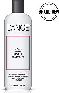 L'ange Hair Inc. LA MANE Borage Oil Silk Shampoo - Keratin Protein Hair Treatment - Organic Hair Growth - Paraben & Sulfate Free Borage Therapy Moisturizing for All Hair Types, 16.9 Fl Oz, MSRP $35.00