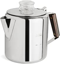 TOPS 55703 Rapid Brew Stainless Steel Stovetop Coffee Percolator, 6-Cup, Metallic