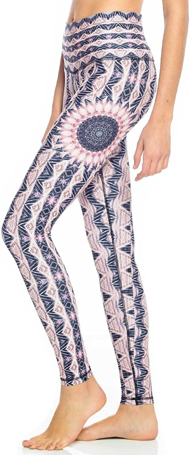Wolven Threads Heliocentric Legging Womens Active Workout Yoga Leggings