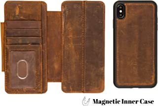 DOC ARTISAN | Universal V5 Wallet | Case for iPhone XR | Distressed Brown