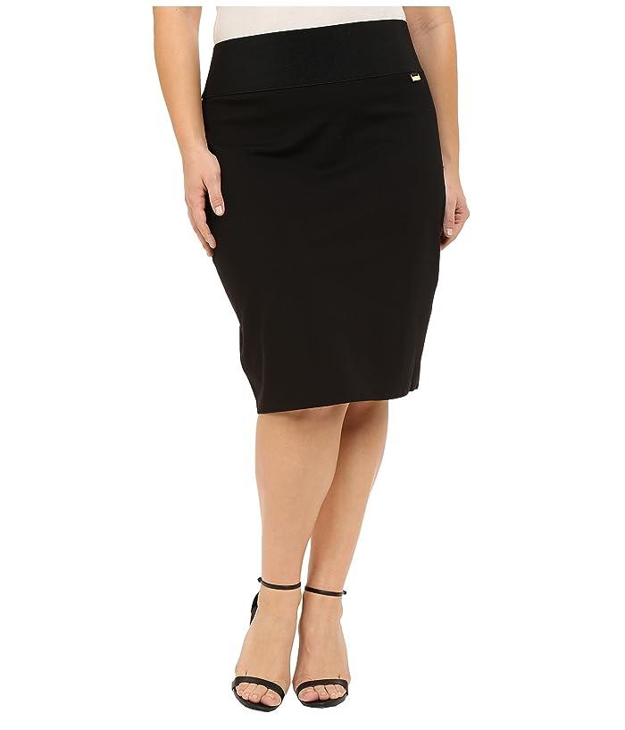 Plus Size Skirt (Black) Women's Skirt
