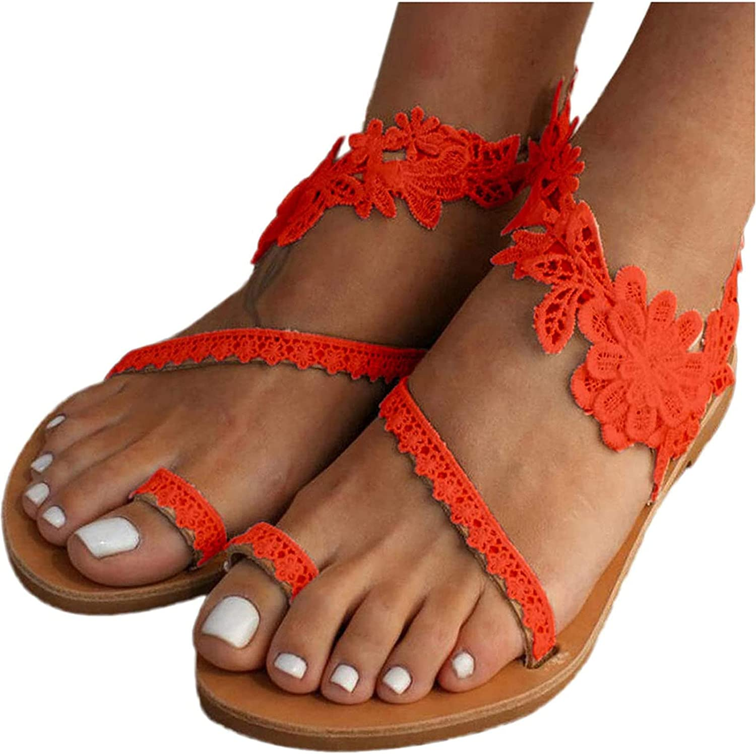 Yeslove Summer Women Casual Fixed price for sale Denver Mall Flat C Sandals Flower Ladies Fashion