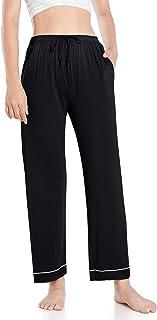 Wantschun Womens LENZING Modal Pajama Pants Bamboo Sleep Bottoms Pj Lounge Pants with Drawstring & Pockets