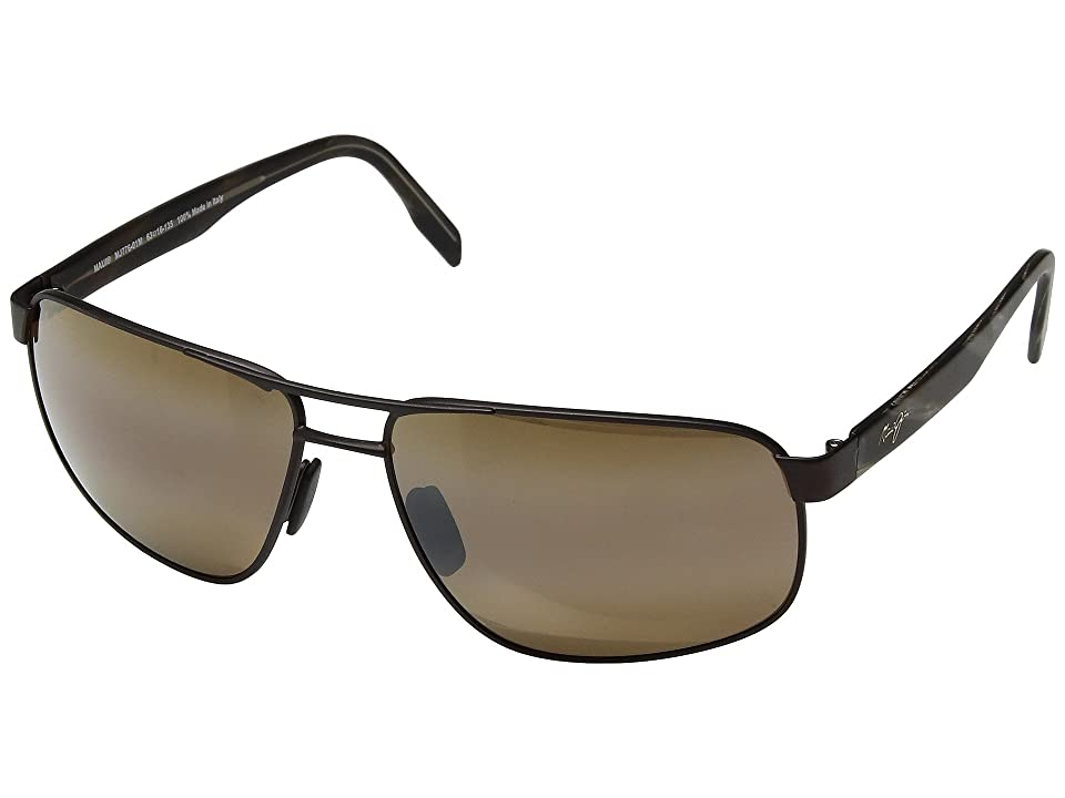 Maui Jim Whitehaven (Satin Chocolate/HCL Bronze) Sport Sunglasses