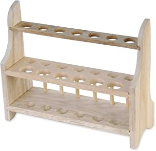 American Educational 7-1408 Wooden 2 Tier Test Tube Rack, 13 Tube