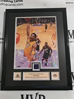 2000-2001 Upper Deck Authentic KOBE BRYANT Limited Edition Game Used Jersey 12x15 Framed Plaque #'d 125