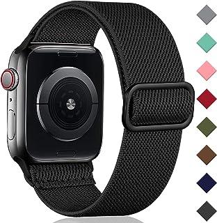 Oielai Solo Loop Kompatybilny z Apple Watch Pasek 38mm 40mm 42mm 44mm, Regulowany, Rozciągliwy Nylon Pleciony Sportowy Pas...