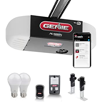 Genie 2033-LED Chain Glide Connect with LED lighting smart garage door opener, Works with Alexa