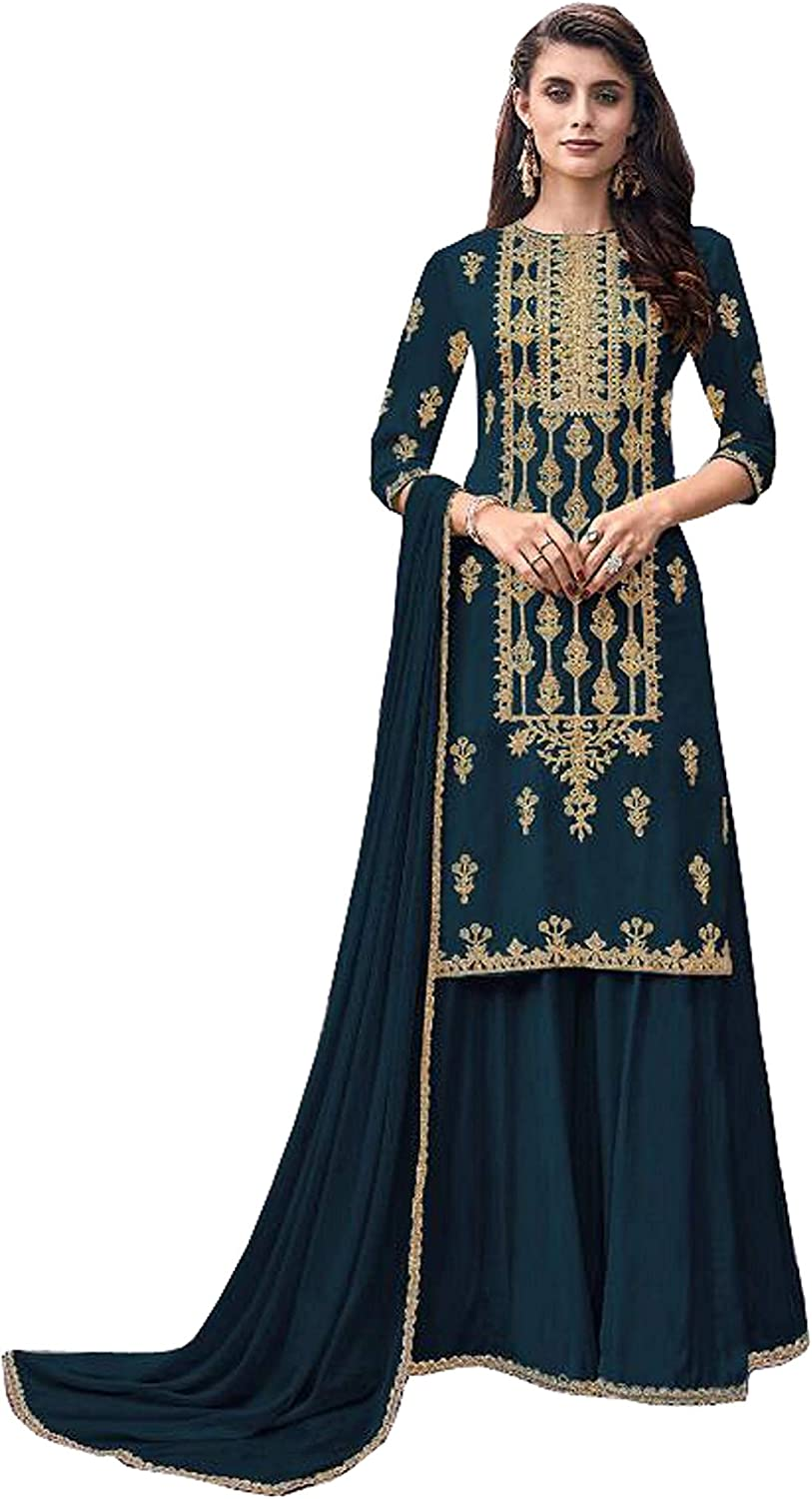 Indian Traditional Faux Limited time cheap sale Sales of SALE items from new works Georgette Salwar Embroidery Worked Kamee