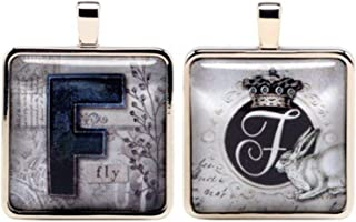 Santa Barbara Design Studio Alphabet Letter Jewelry Charm by Artist Sally Jean, F for Fly