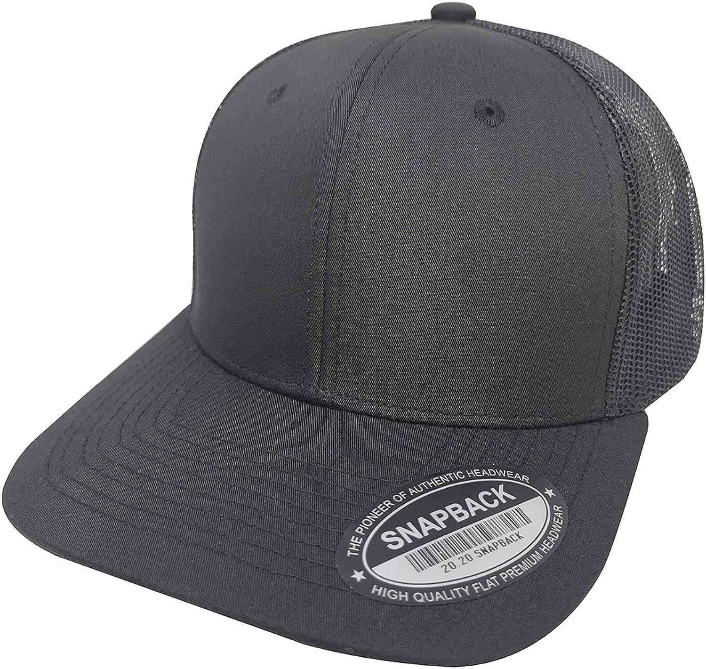 ANSYNDSW Adjustable Mesh Snapback Hat Breathable Plain Trucker Outdoor Snapback Fishing Hat Retro Trucker Cap Baseball Hat