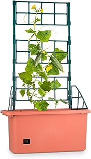 Waldbeck Power Planter Maceta con tutor de 3 niveles (75x130x35cm, sistema de riego inteligente, macetero para jardín o balcón)