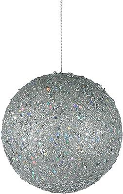 "Vickerman Fancy Chocolate Holographic Glitter Christmas Ball Ornament 4.75/"""