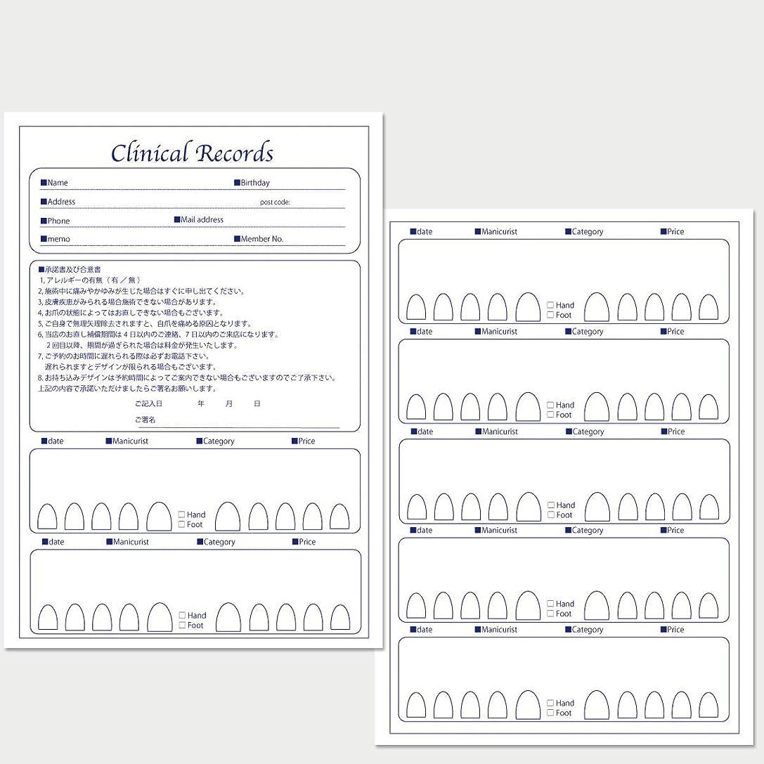囲む協同槍サロン名が指定可能なオリジナルネイルサロンカルテ/PDFファイルをDVDにて納品 (ブルー)