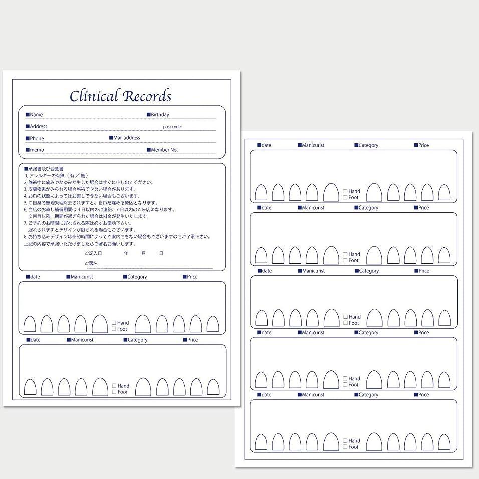 サロン名が指定可能なオリジナルネイルサロンカルテ/PDFファイルをDVDにて納品 (ブルー)