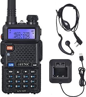 eSynic UV-5R Walkie Talkie 128 Canales VOX 400MHz-480MHz VHF/UHF Banda Dual con Pantalla LED de Memoria con Explosión Parp...