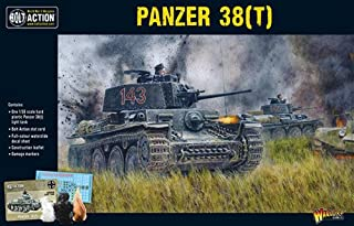 Bolt Action Panzer 38(t) Tank 1:56 WWII Military Wargaming Plastic Model Kit