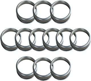 THINKCHANCES Food Grade and BPA Free Silver Stainless Steel Rust Resistant Dishwasher Safe Screw Bands/Rings for Mason, Ball, Canning Jars (12 Pack, Wide Mouth)