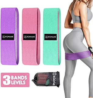 ZOMAKE Resistance Bands for Legs and Butt, Hip Exercise Booty Bands, Fabric Non Slip Elastic Workout Loop Yoga Glute Train...