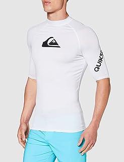 Quiksilver Men's All Time - Short Sleeve UPF 50 Rash Vest for Men Short Sleeve UPF 50 Rash Vest