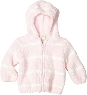 Baby-girls Infant Striped Chenille Hooded Jacket