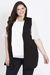 Beme Sleeveless Lace Up Vest Black 22 - Womens Plus Size Curvy