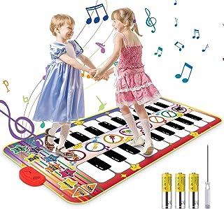 Kids Musical Mat, 20 Keys Double-Keyboard Musical Piano Mat