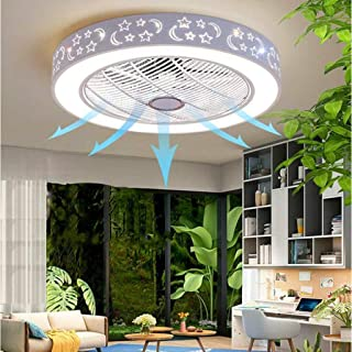 WJJH Ventilador de Techo de luz con iluminación LED y Ventilador de Techo Control Remoto silencioso Ventilador de 36W Regulable Luz de Techo de la lámpara,1