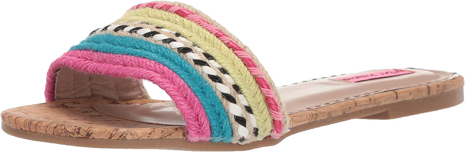 Betsey Johnson Womens Marve Flat Sandal