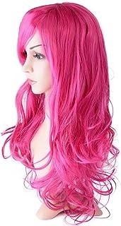 Vlasy フルウィッグ ロング ポイントウィッグ かつら 付け毛 髪 ヘアネット付き長さ約55cm 12色 1個 (ローズ)