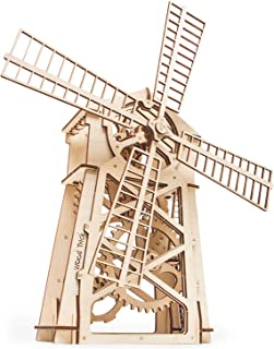 Wood Trick Windmill Model Kit to Build - 3D Wooden Puzzle, Assembly Model, ECO Wooden Toy, Best DIY Toy - STEM Toys for Boys and Girls