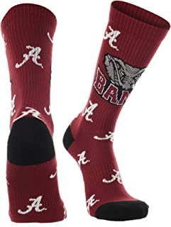 Alabama Crimson Tide Socks Sock Madness Fanwear Crew Length