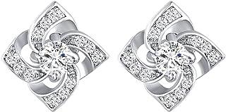 GEORGE · SMITH Boucles d'oreilles Pour Femmes/Filles,Clou de fleur en argent sterling 925,Cristaux de Swarovski, Boucles d...