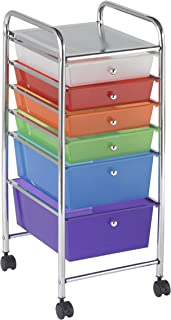 ECR4Kids 6-Drawer Mobile Organizer, Assorted Colors