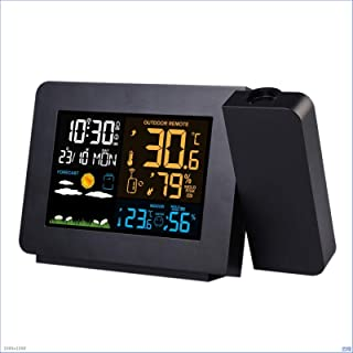 Digital Projection Alarm Clock, Projector Clock on Ceiling Electronic Desk Clock Snooze Function Bedside Wake Up Clock Wea...