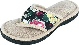 isotoner Womens Petunia Floral Jersey Thong