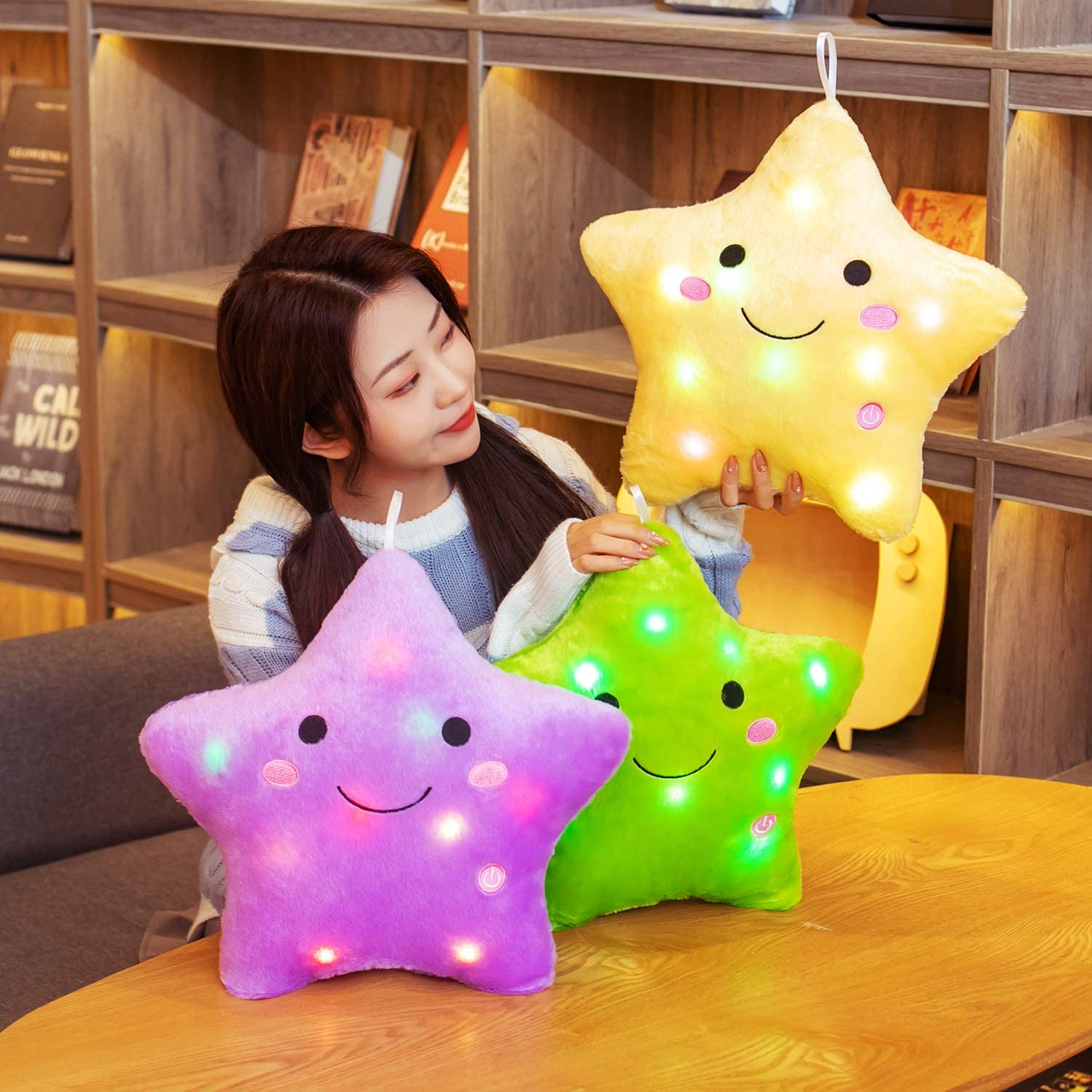 Buy Twinkle Star Plush Pillows Stuffed For Home Deco Purple Online In Vietnam B07cpsdcmd