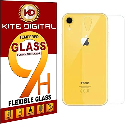 Kite Digital Compatible with IPHONE XR BACK Premium Tempered Glass Screen Protector Slim 9H Hard 2.5D