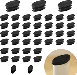 PVC-Schutzkappen geruchlos 8 St/ück kratzfrei Schwarz oval 15 x 30 mm Flyshop Stuhlbeinkappen