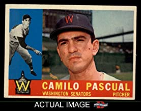 1960 Topps # 483 Camilo Pascual Washington Senators (Baseball Card) Dean's Cards 6 - EX/MT Senators