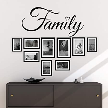Wall stickers Wall Decals 30x60 Wall sticker phrases sentence Custom Family